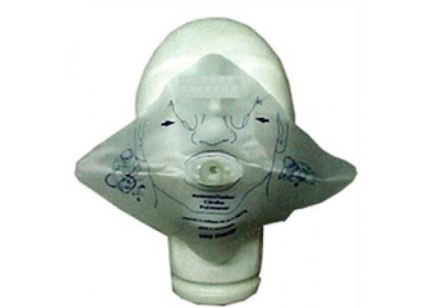 Máscara Respiração RCP Boca a Boca descartável
