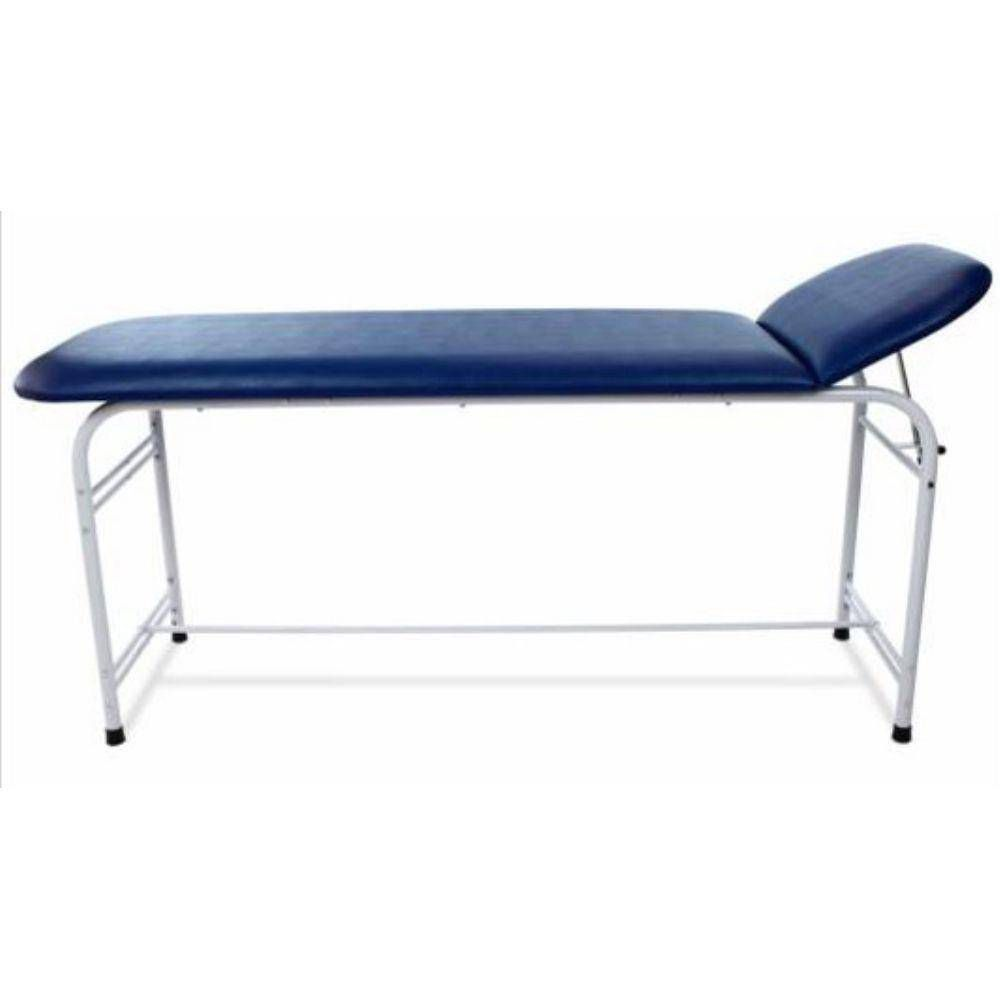 Mesa de exame clinico Divã Clínico Estofado Azul Marinho 1.80x0,55x0,80
