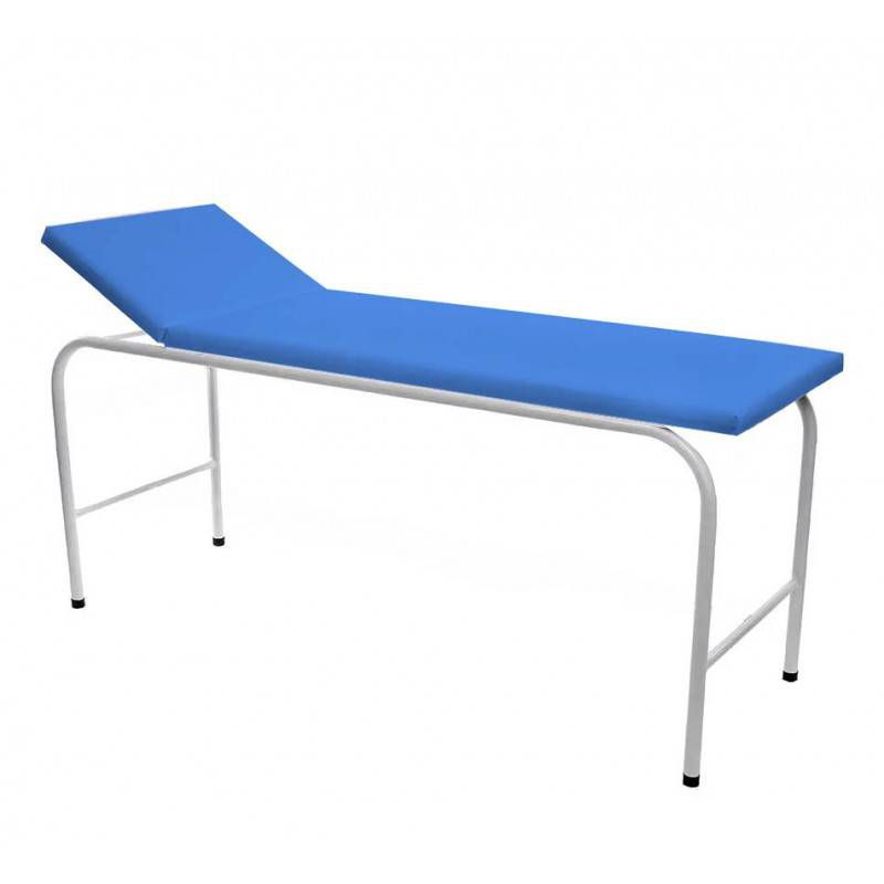 Mesa de Exame Clínico Estofado Azul Claro 1,85X0,70X0,80 Mt302