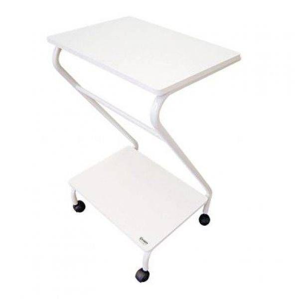 Mesa para Aparelhos em Z com 2 Prateleiras e Rodizios Pintura Epoxi 4028 - Carci