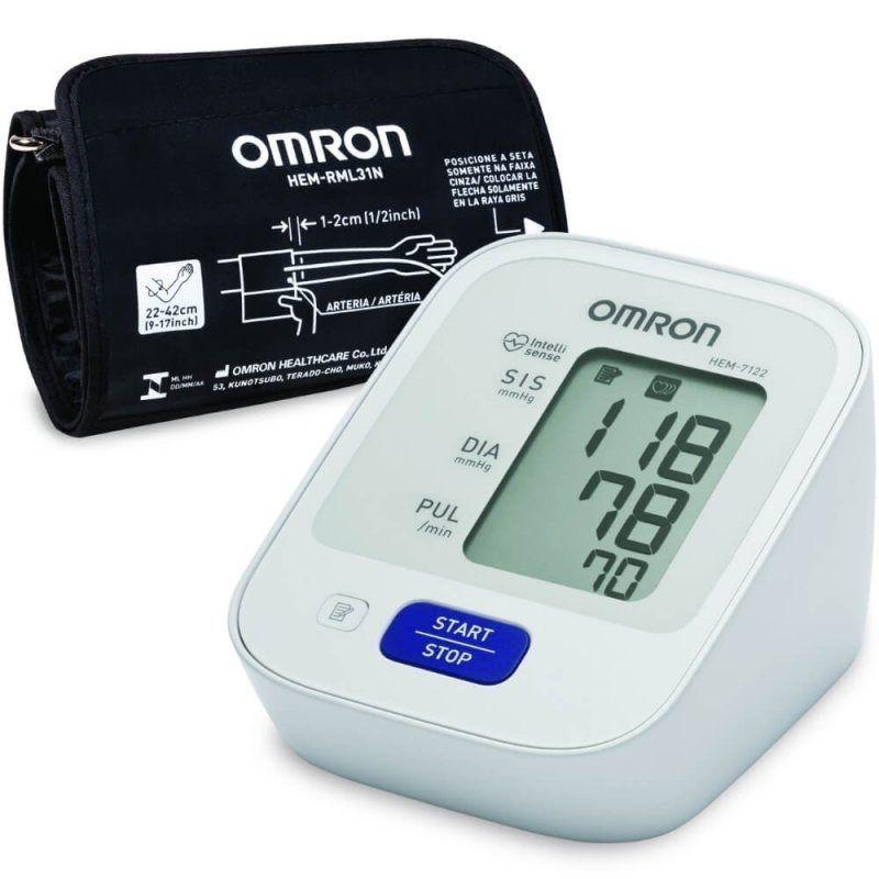 Monitor De Pressão Arterial Automático De Braço Control+ HEM-7122 - Omron