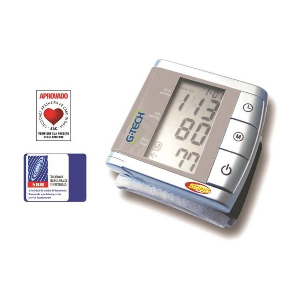 Monitor de Pressão Arterial Digital de Pulso Master BP3BK1 - G-Tech