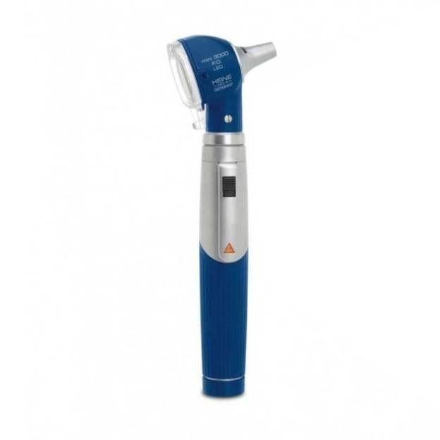 Otoscópio Fibra Ótica Mini 3000 Azul C/ 10 Espéculos Stand.D00170110 Heine