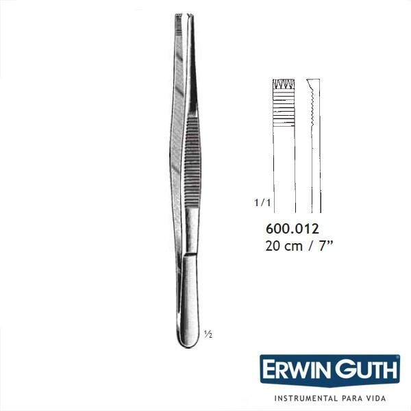 Pinça Adlerkreutz 20cm 5 x 5 Dentes - Erwin Guth