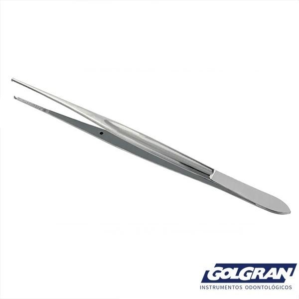 Pinça Cushing Com Dente 2 x 1 18cm P/ Uso Geral - Golgran