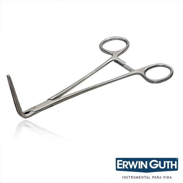 Pinça Debakey Atrauma 10cm Curva 90º Cardiovascular - Erwin Guth