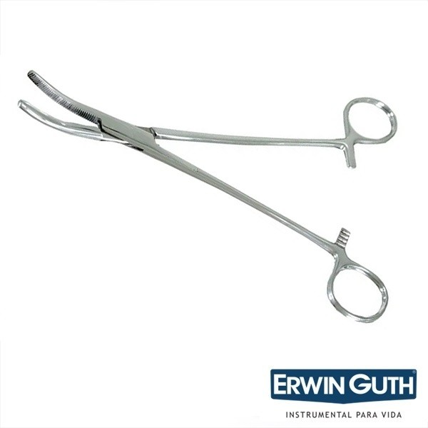 Pinça Moynihan 24cm Curva Para Histerectomia - Erwin Guth