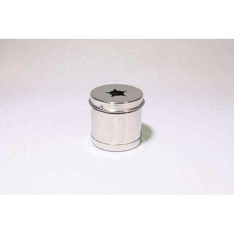 Porta Algodão Inox Redondo Usado para Detritos 08 x 08 cm
