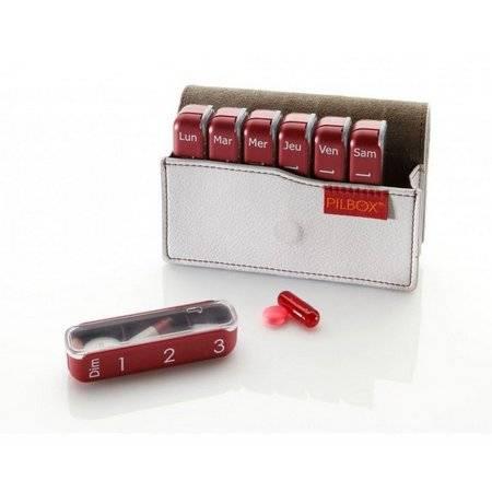 Porta Comprimidos Mini Cinza - Pilbox
