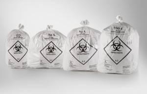 Saco de Lixo Hospitalar 100 Lts. C/ 100 Unid.