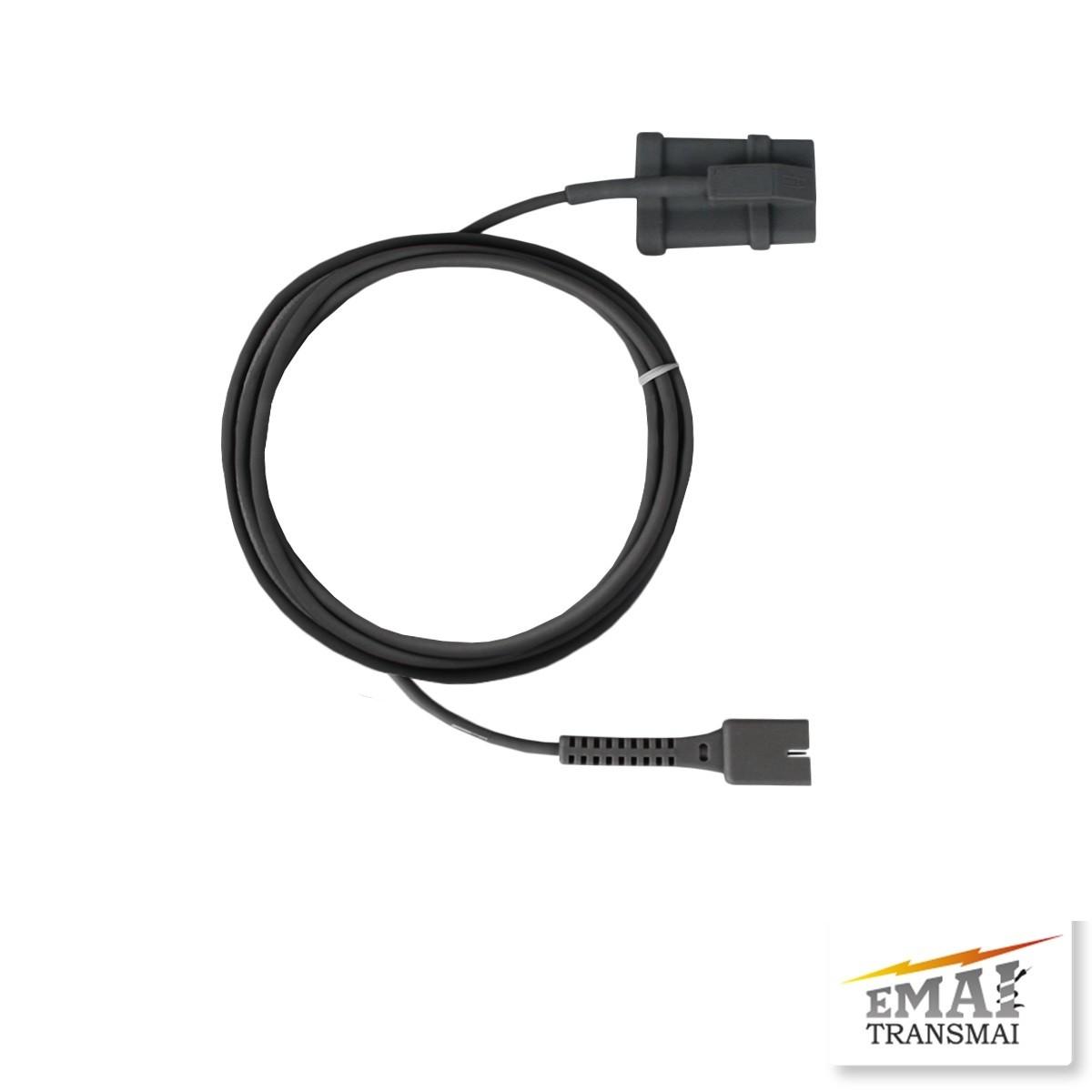 Sensor de Spo2 Oxímetro de Pulso Adulto Soft 2,7mt  - Transmai/Emai