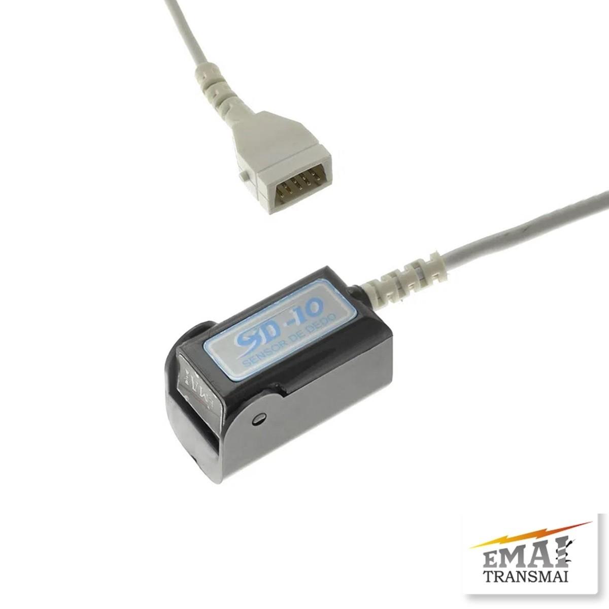 Sensor Para Oxímetro Adulto Reutilizável 2,7m SD-10 - Emai / Transmai