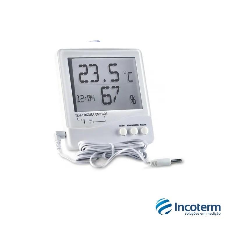 Termo-Higrômetro Digital Temperatura Interna e Externa e Umidade Interna (7663.02.0.00) - Incoterm