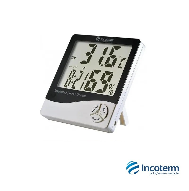 Termo-Higrômetro Digital TH50 Máxima e Mínima (9690.02.0.00) - Incoterm