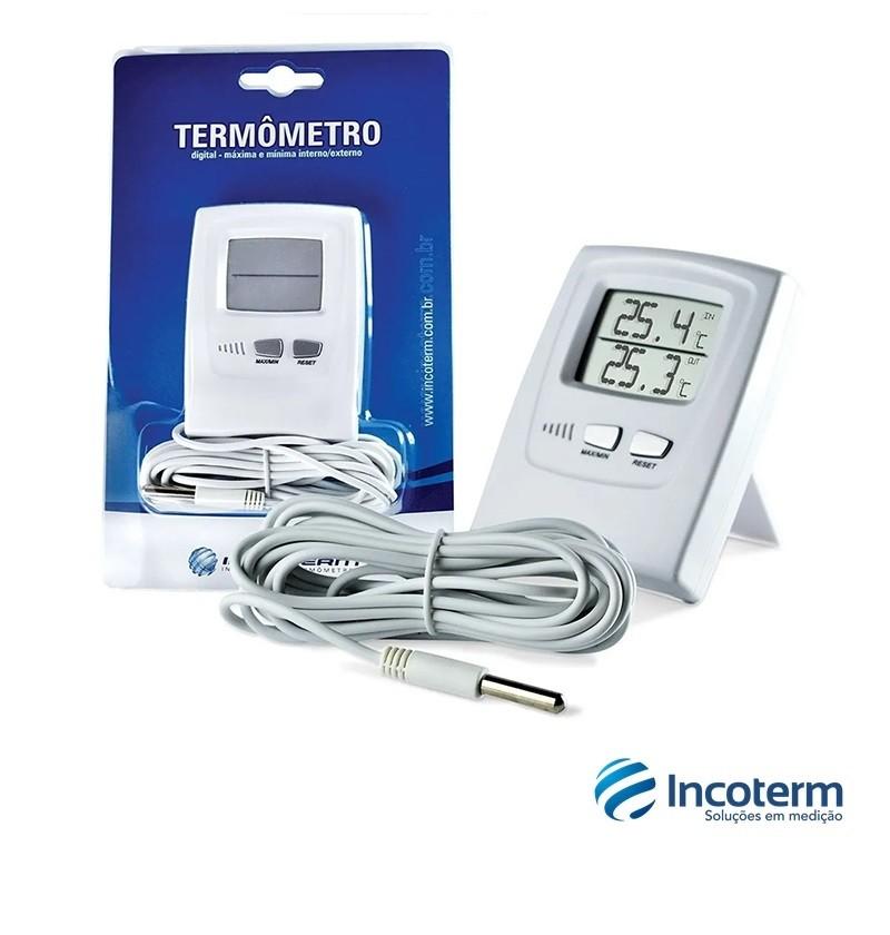 Termômetro Digital Máxima e Mínima Interna e Externa (7665.02.0.00) - Incoterm