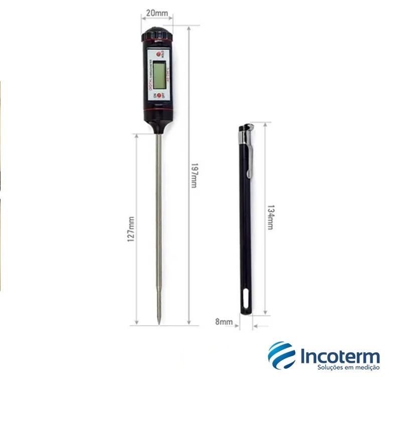 Termômetro Digital Multiuso Tipo Espeto -45º / +230º: 0,1ºC  (6132) - Incoterm