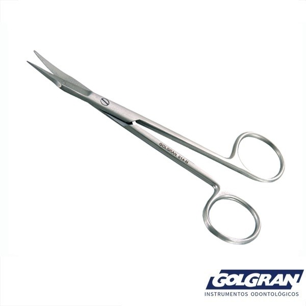 Tesoura Goldman Fox 12,5cm Curva Periodontia - Golgran