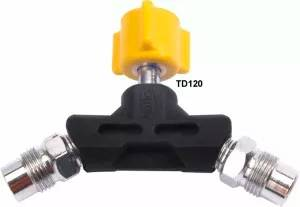 Tomada Dupla Para Ar Comprimido C/ Válvula De Impacto TD120 - Unitec