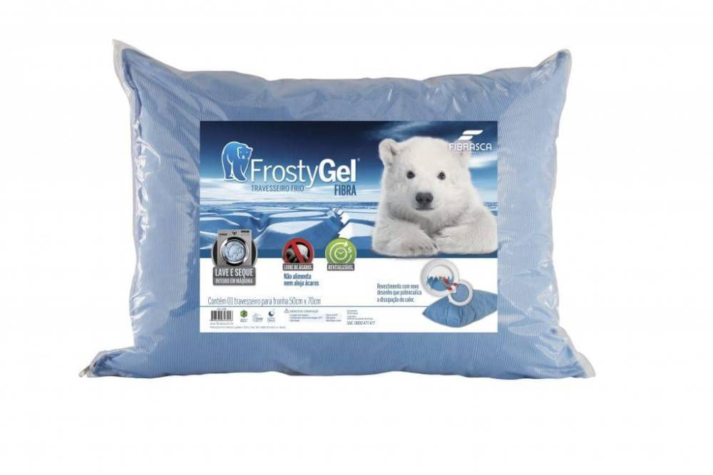 Travesseiro em Fibra Siliconada Frostygel Lavável 50 x 70 Fibrasca