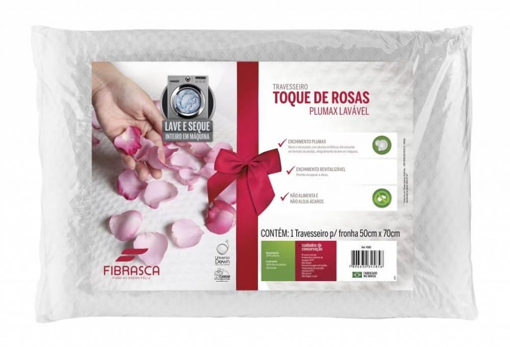 Travesseiro Toque de Rosas Plumax com Ions de Prata 50 x 70