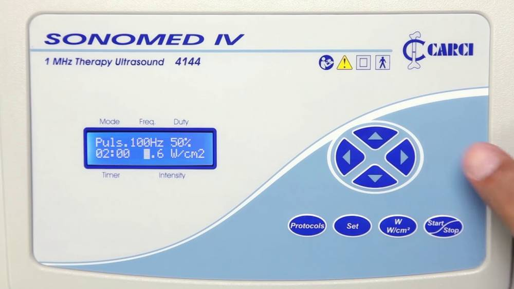 Ultrassom Fisioterápico Digital Sonomed IV 1Mhz 4144US - Carci