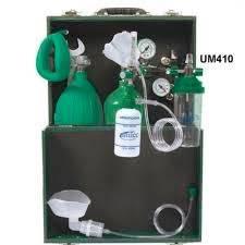 Unidade de Emergência Conjunto de Oxigênio Portátil Reanimador + Maleta UM410 - Unitec