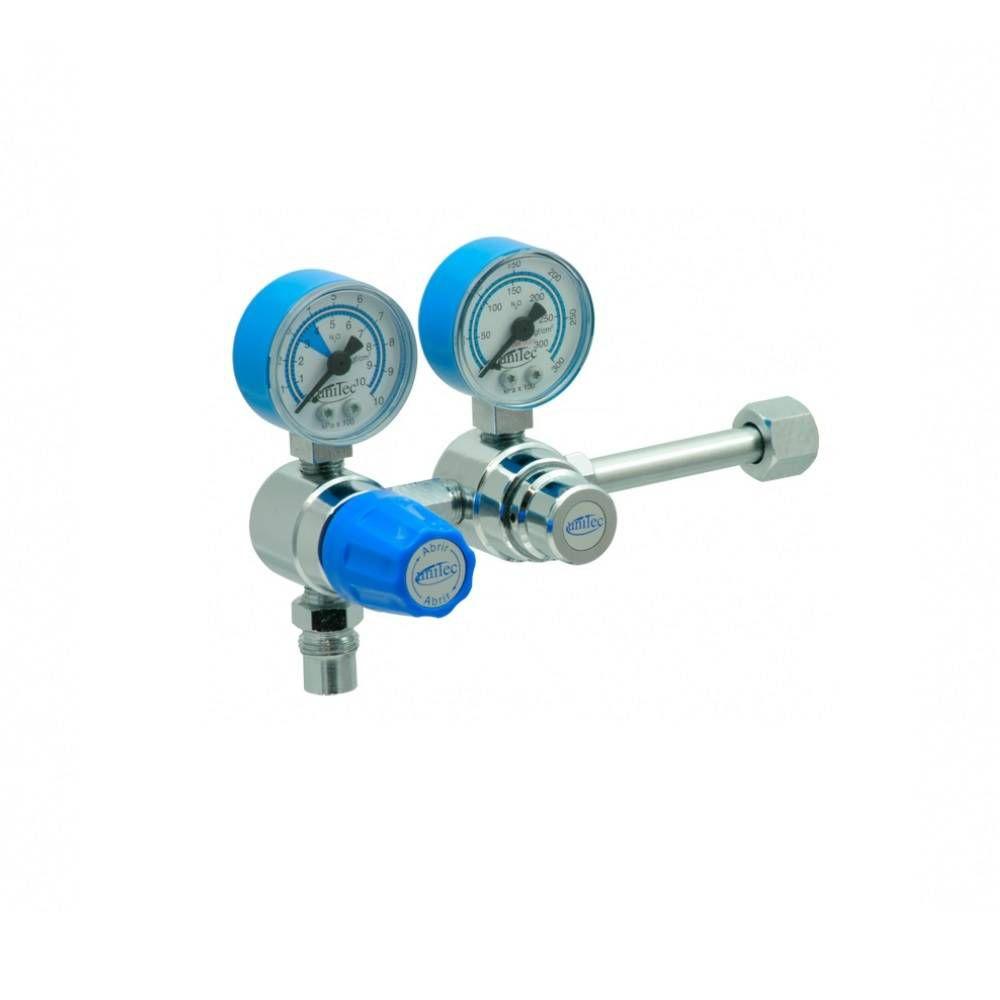 Válvula Reguladora Oxido Nitroso Para Cilindro Duplo Estagio VE030 - Unitec