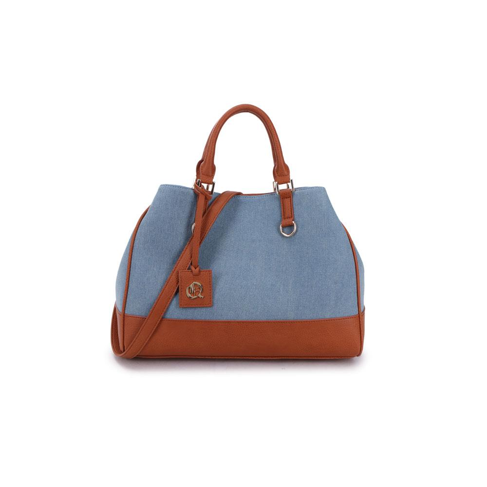Bolsa de Mão Dionísio Poliéster Jeans Queens Paris Azul Claro - QPB186412