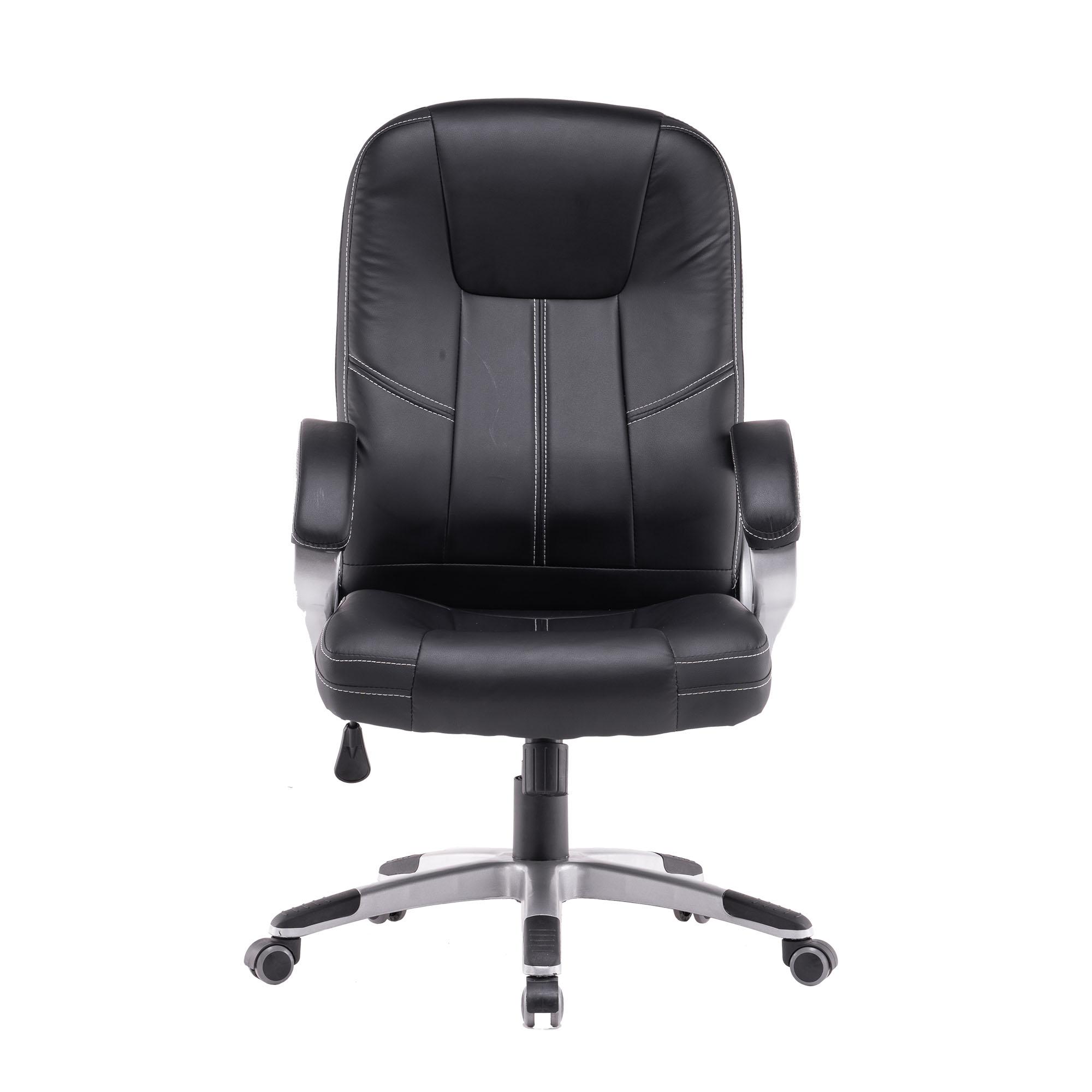 Cadeira de Presidente Couro Sintético Santino Preta - SAD5U01