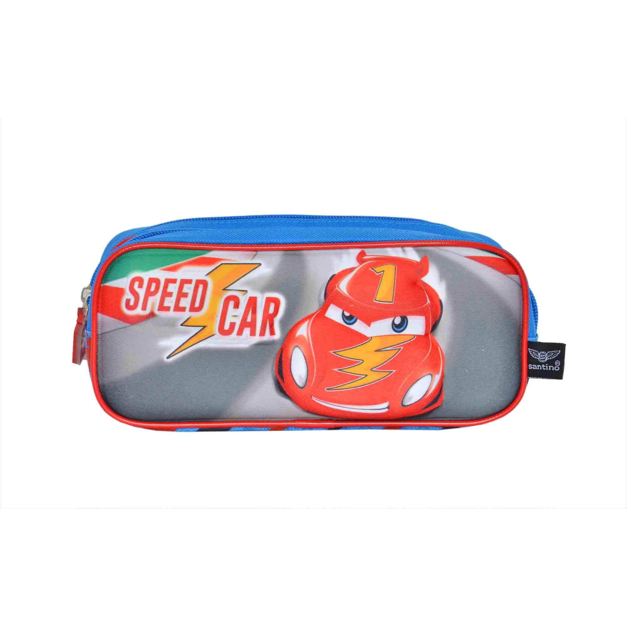ESTOJO INFANTIL SPEED CAR POL AZUL - SCE181223