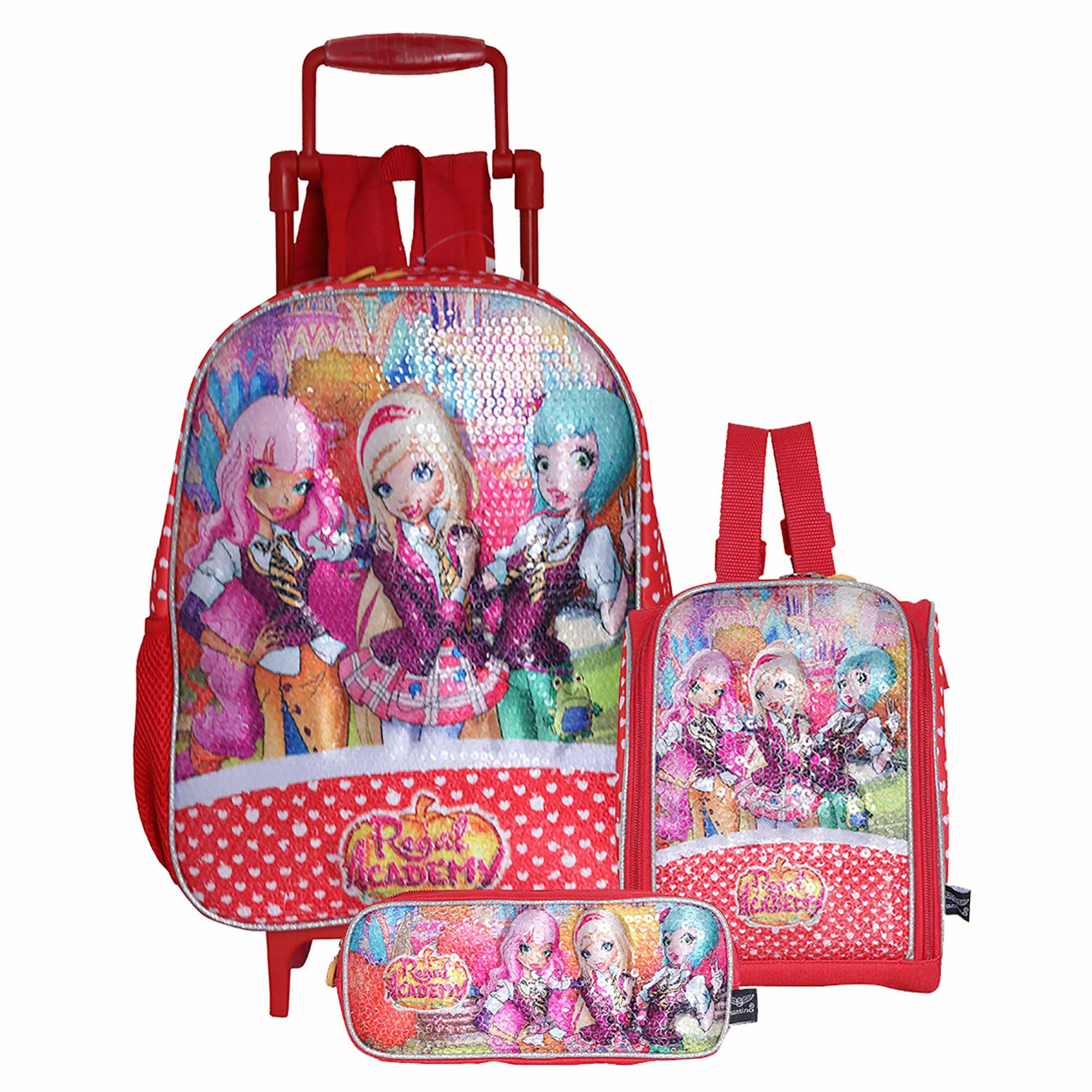 KIT MOCHILA PINK POL REGAL ACAD - RAK1U47