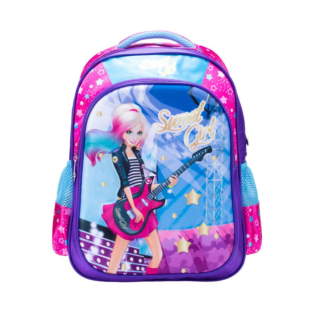 Mochila Infantil Rock Star Poliéster Sweet Girl Pink