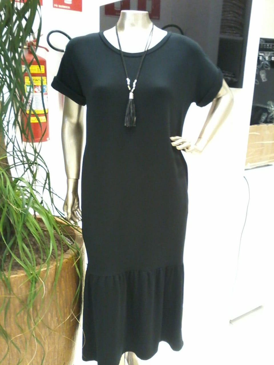Vestido Malha Preto