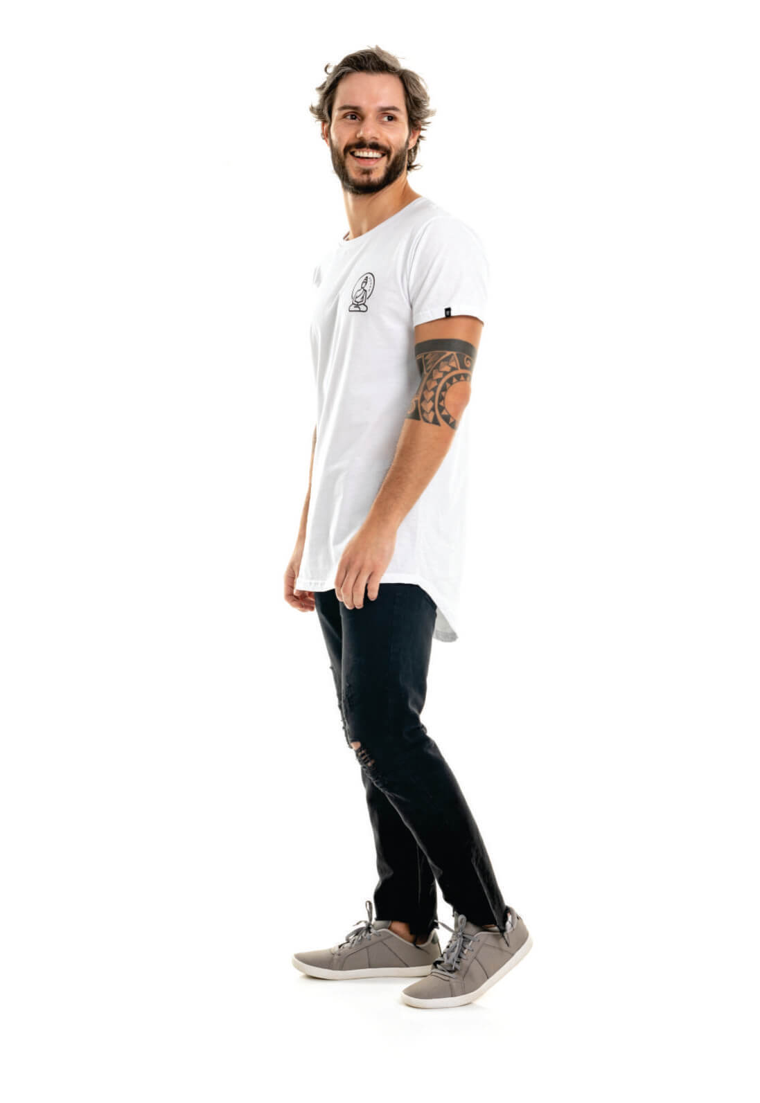 Camiseta Nogah Buda Oversized Branca