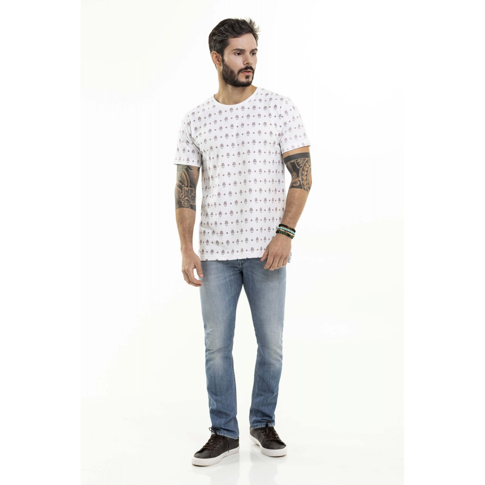 Camiseta Nogah Hamsa Oversized Branca