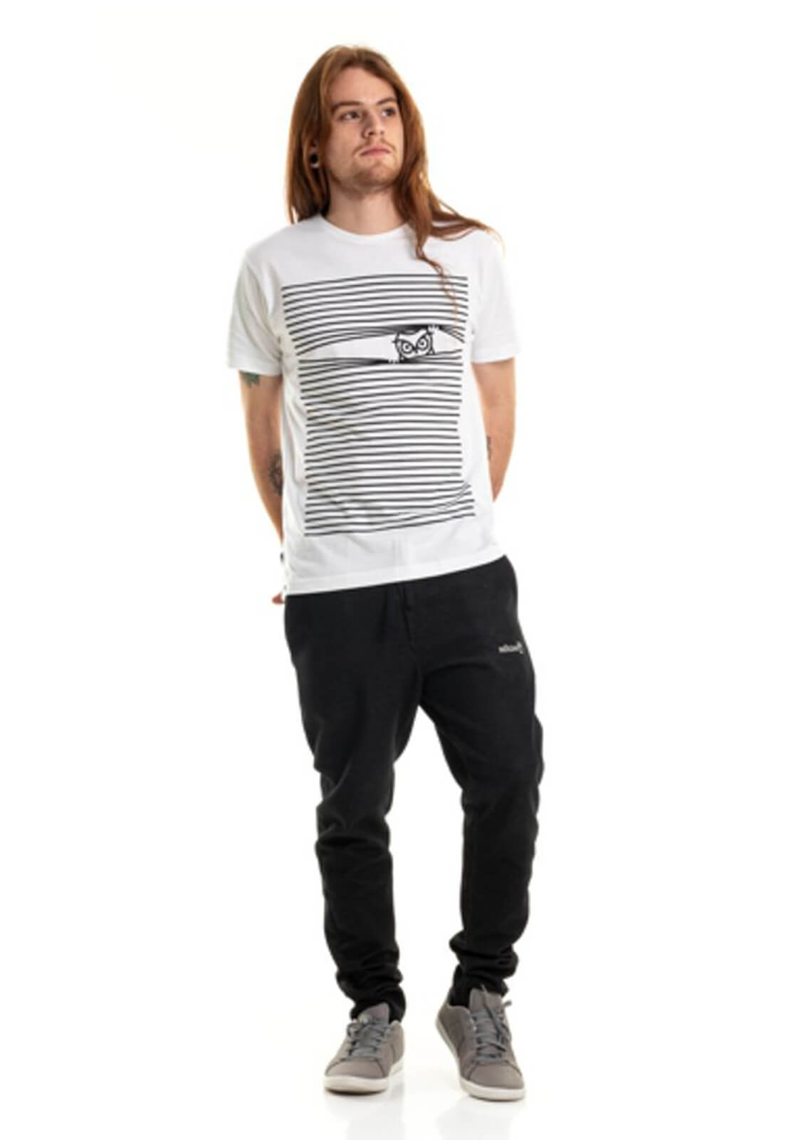 Camiseta Listras Nogah Branca