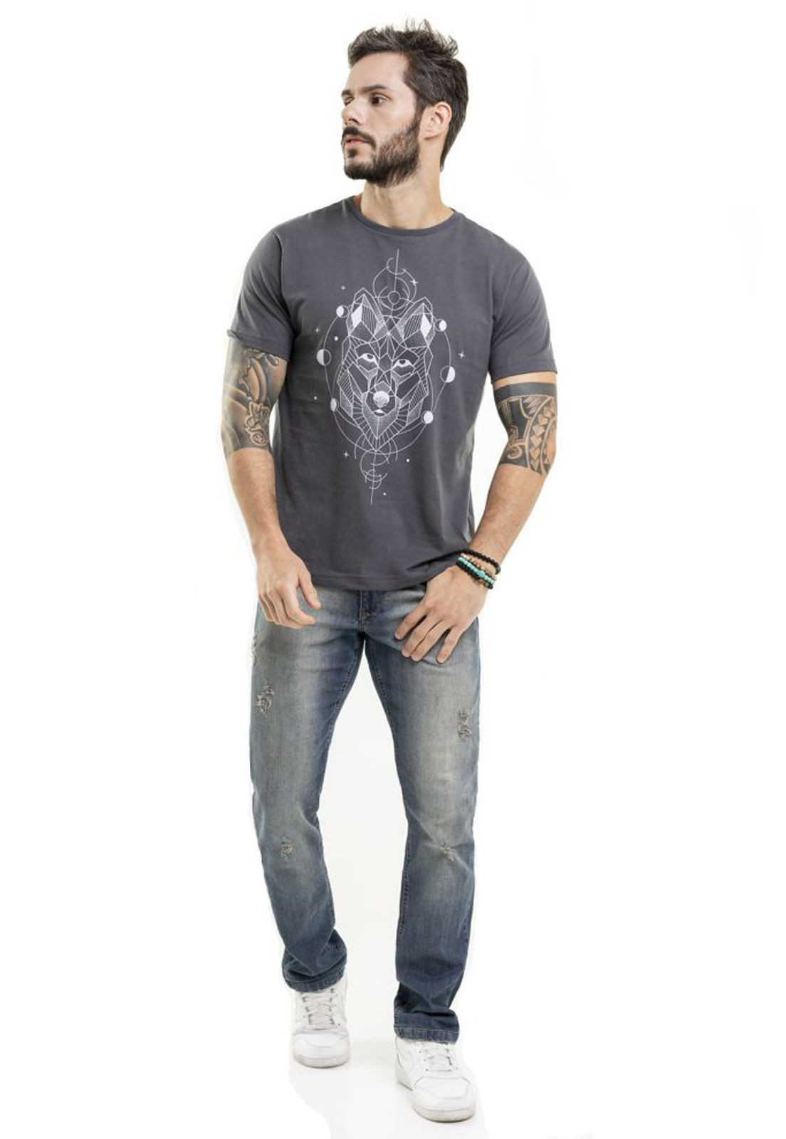 Camiseta Lobo Chumbo