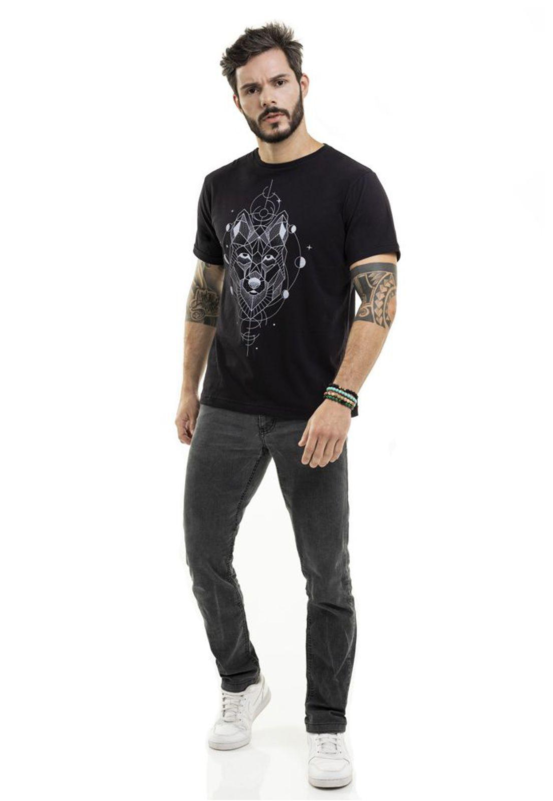 Camiseta Lobo Preta