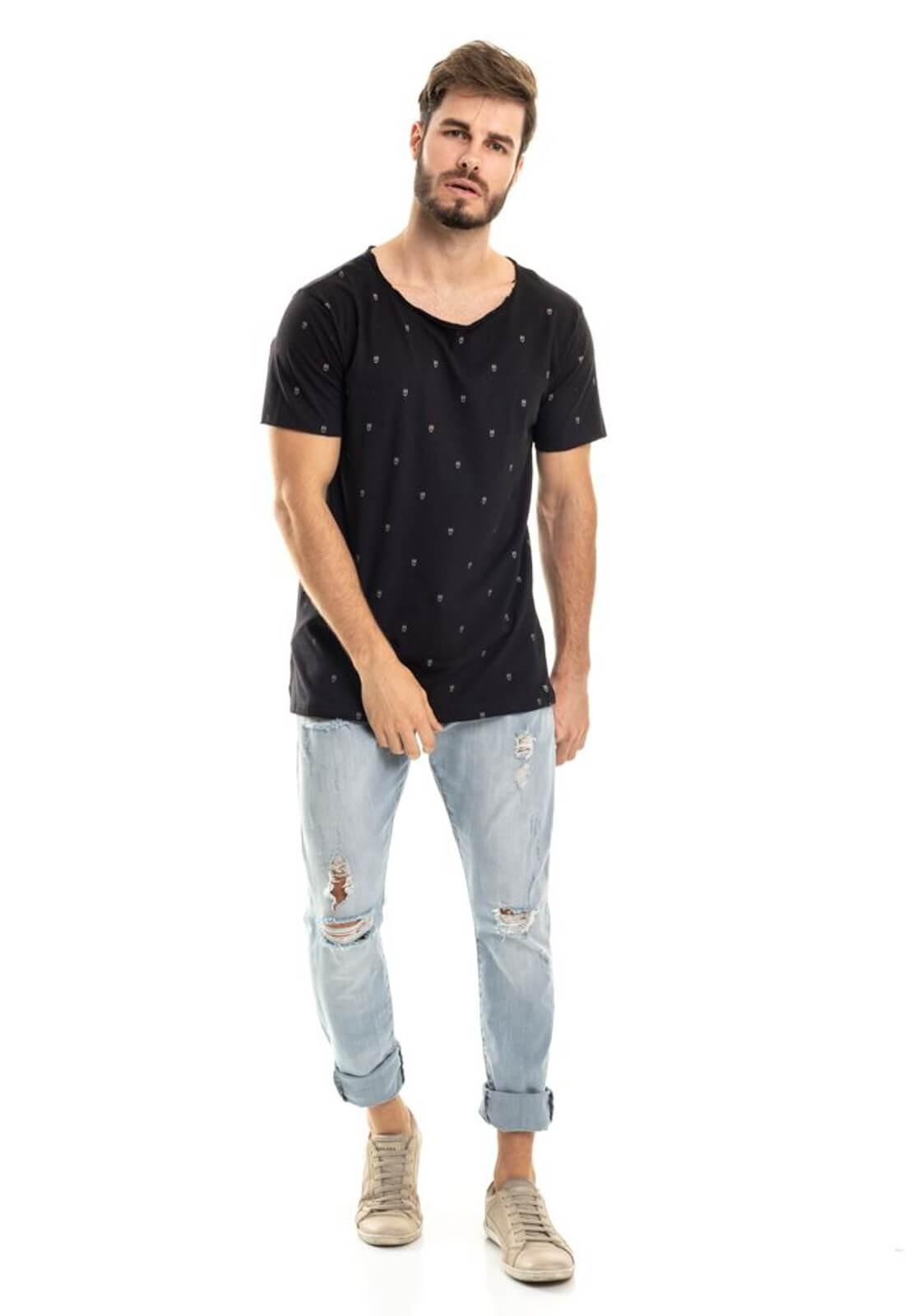 Camiseta Nogah Corujas Oversized Preta