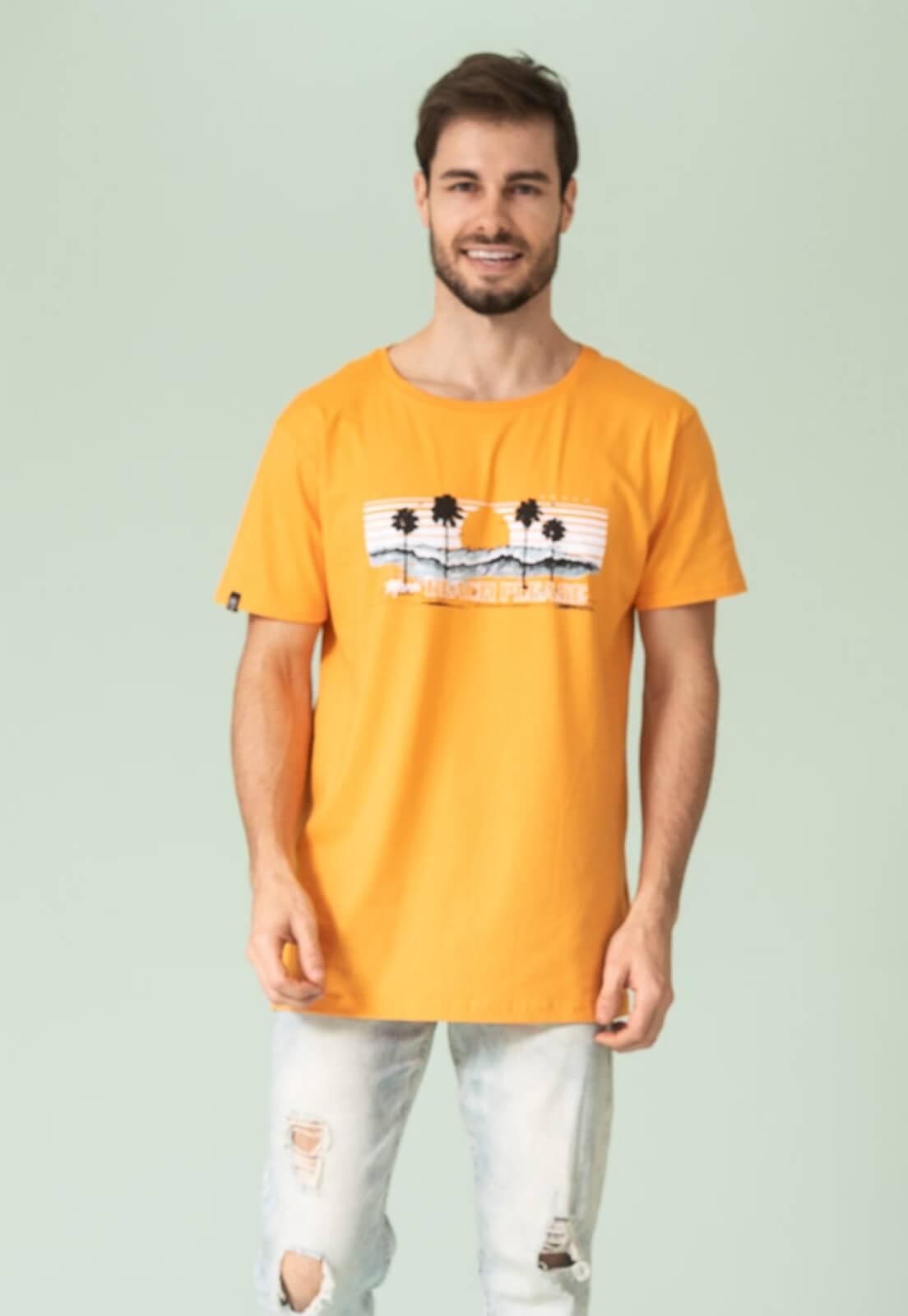 Camiseta Nogah Beach Please Amarela
