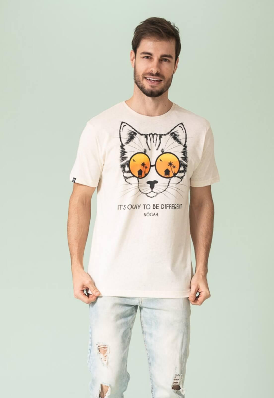 Camiseta Nogah Cat Areia
