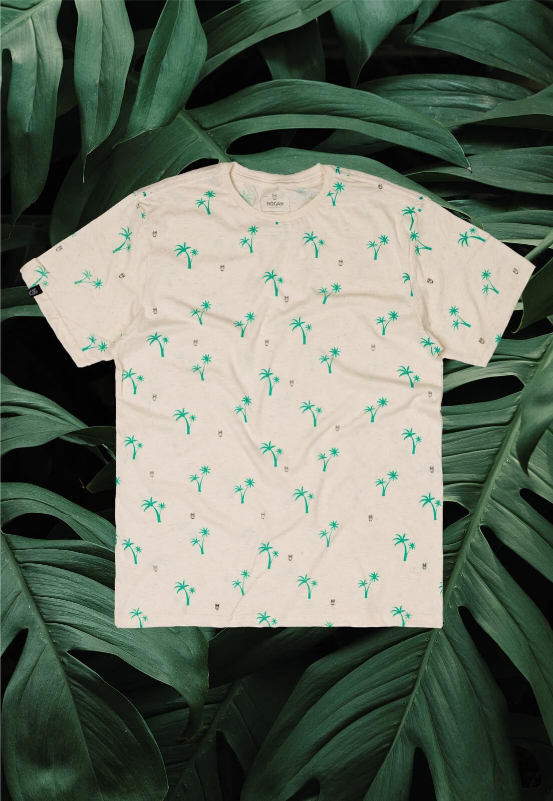 Camiseta Nogah Coconut Tree Areia