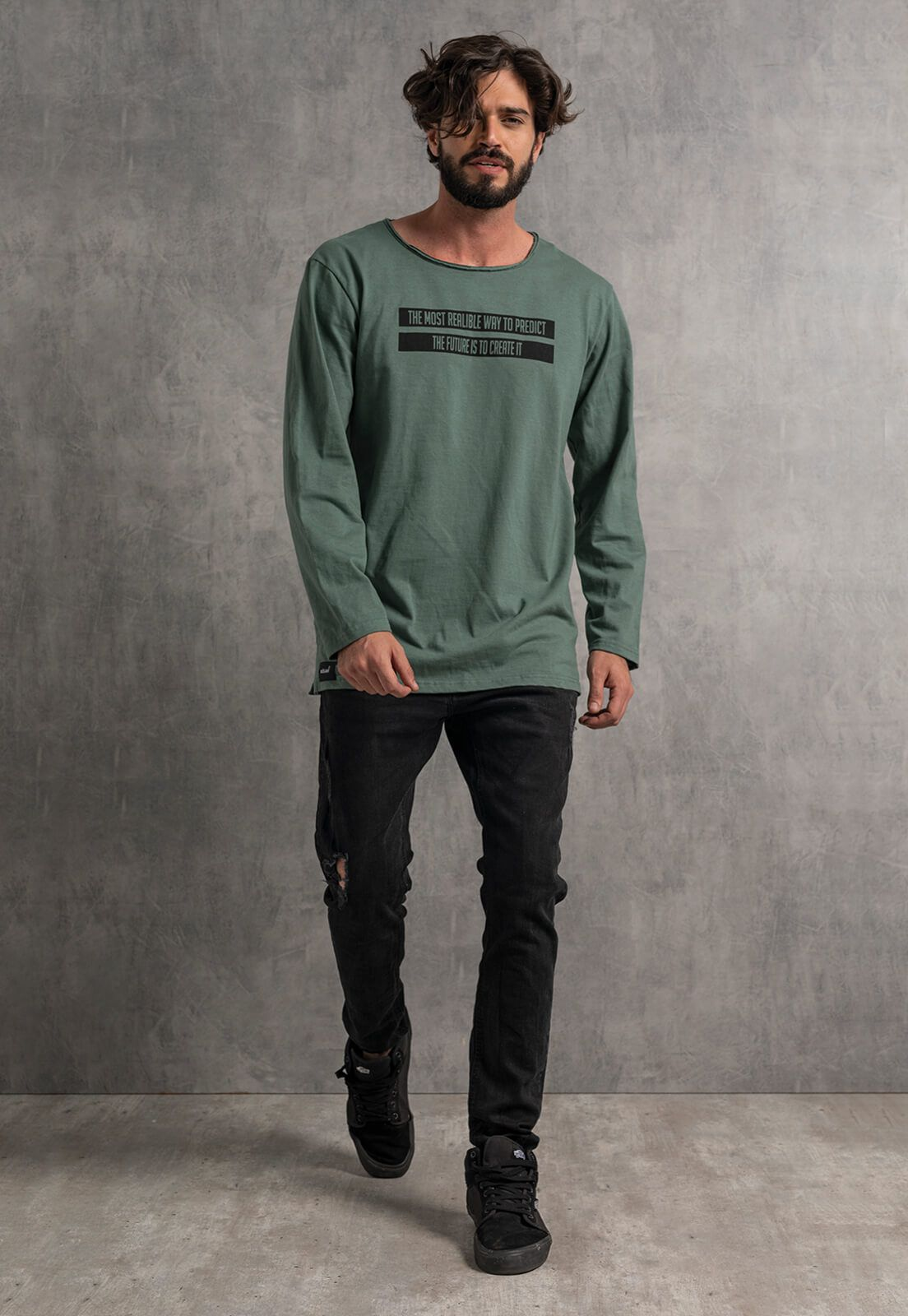 Camiseta Nogah Creat It Oversized Verde
