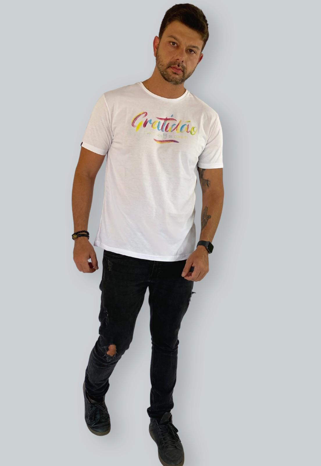 Camiseta Nogah Gratidão Branca