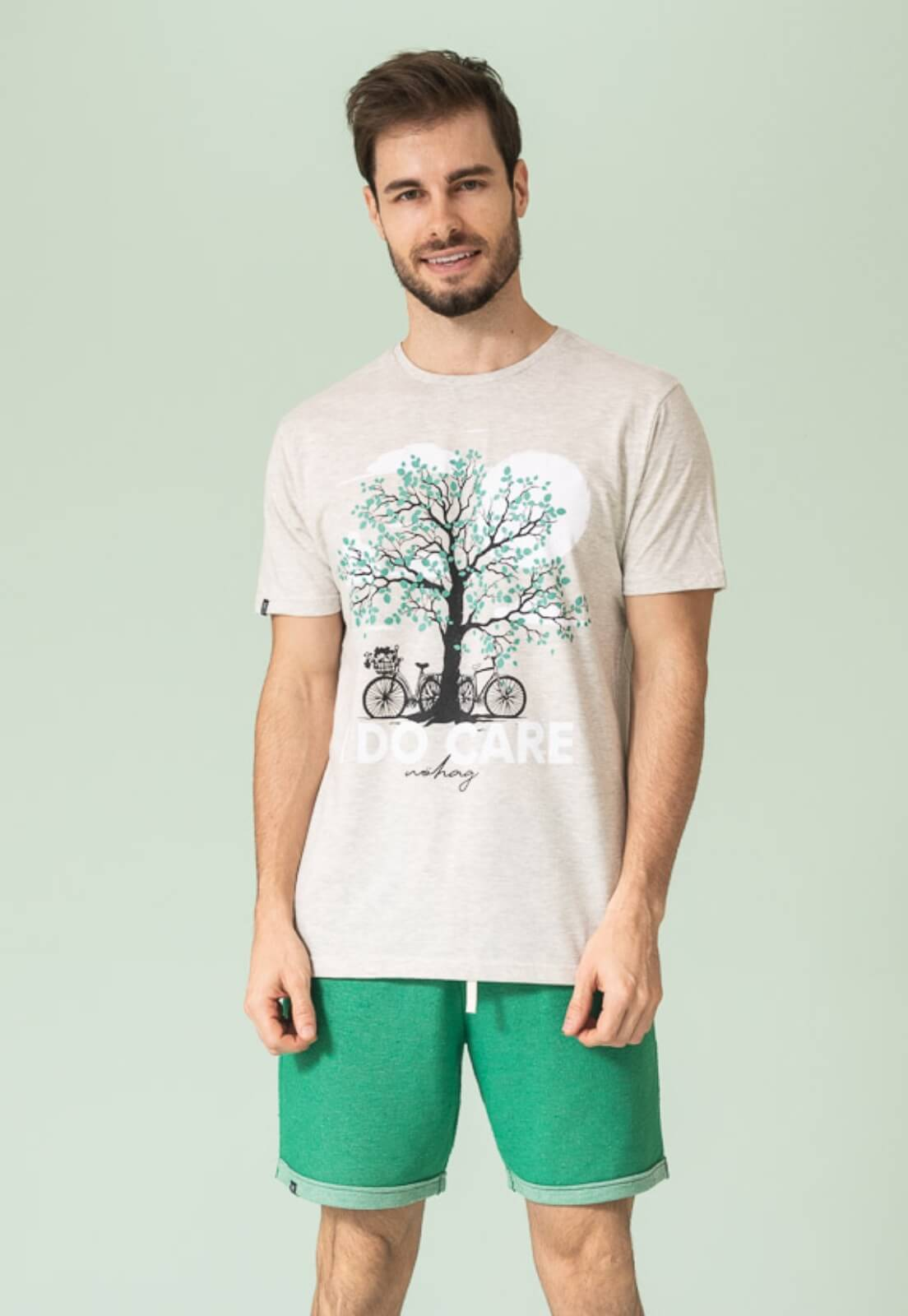 Camiseta Nogah I Do Care Mescla