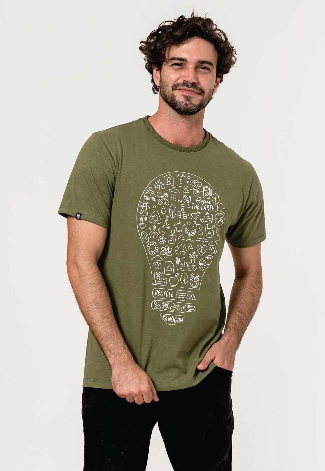 Camiseta Nogah Lâmpada Verde