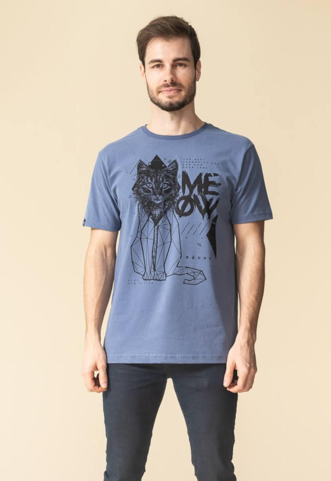 Camiseta Nogah Meow Azul