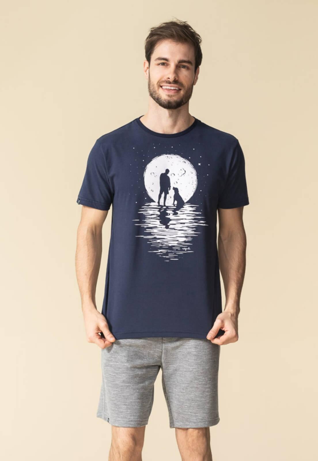Camiseta Nogah Moon Dog Marinho