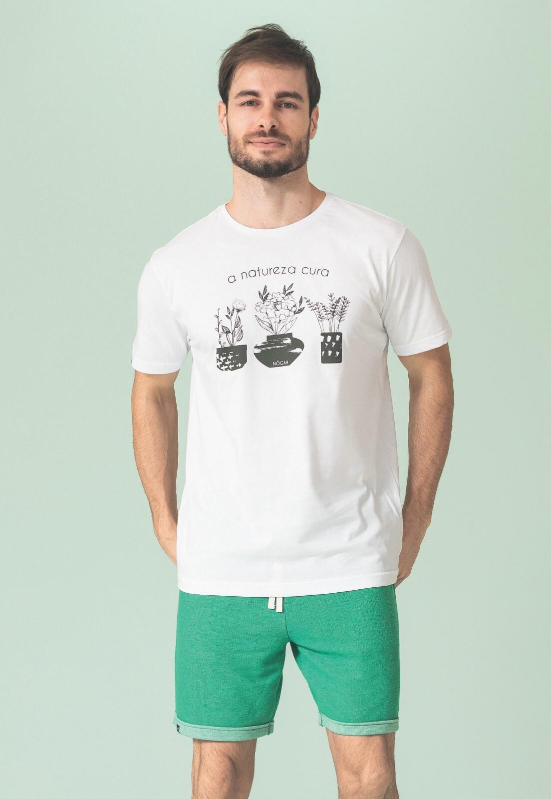 Camiseta Nogah Natureza Cura Branca