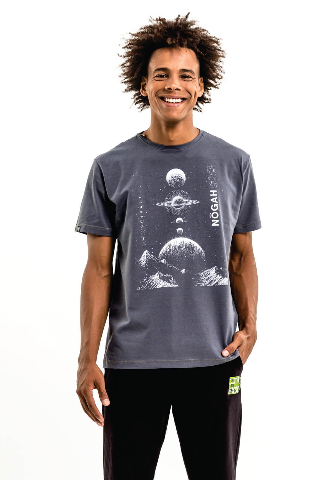 Camiseta Nogah Planets Chumbo